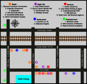 map of downtown mebane membership